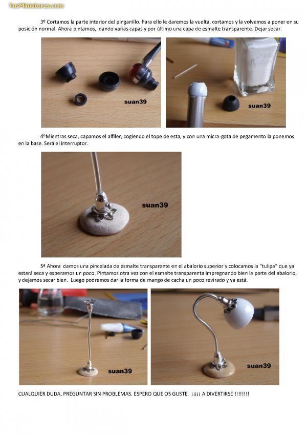 Lampara Miniaturas Ideas De Casa De Munecas Miniaturas Tutoriales