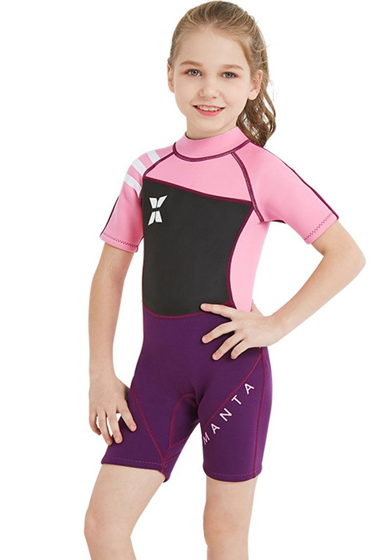 522ae5857c canoeing - Neoprene Swimsuit Girls Boys 2.5mm Thickness Premium Short or  Long Back Zipper One Piece Thermal UV Protection Youth Swim Wetsuit.