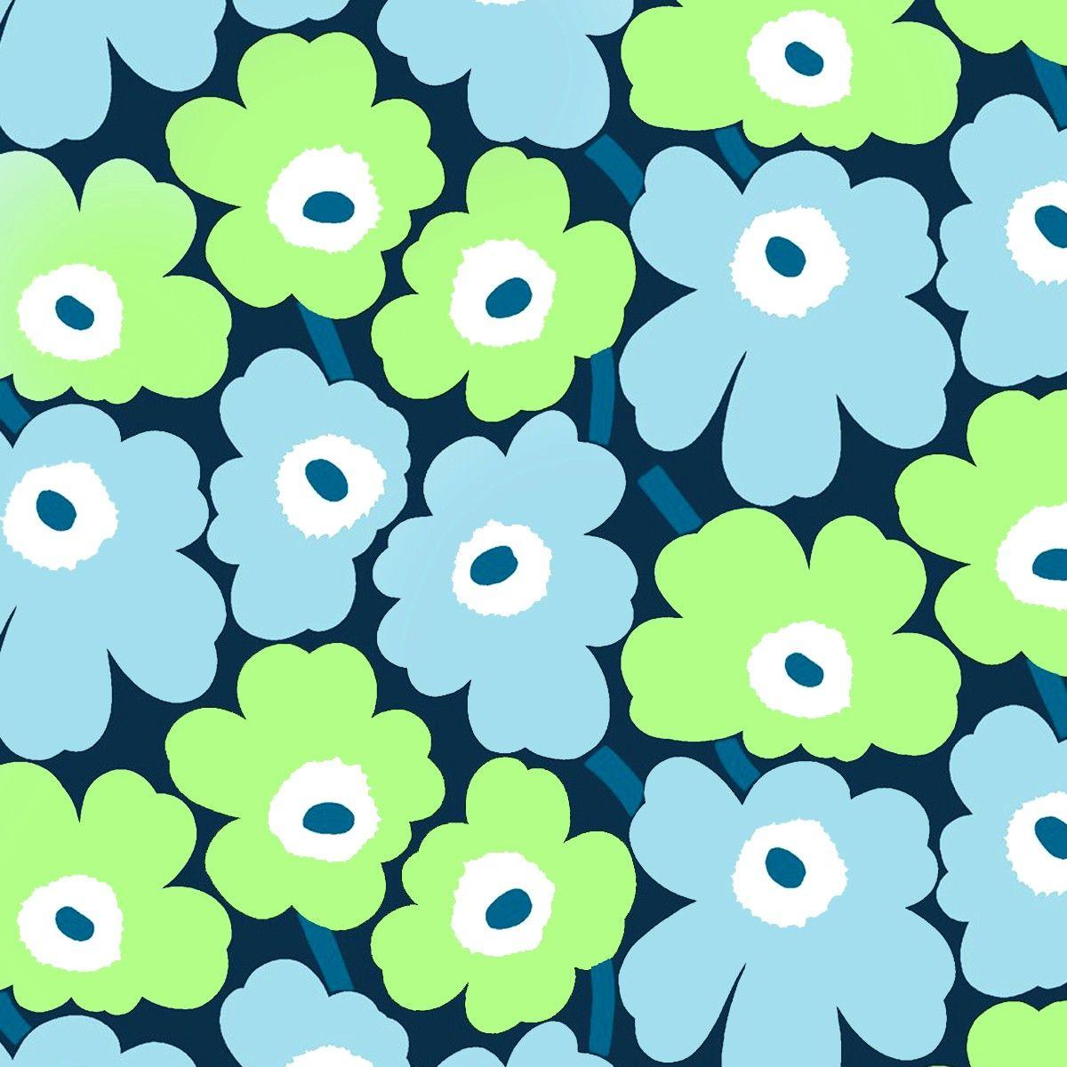 marimekko pieni unikko wallpaper fashion fabric