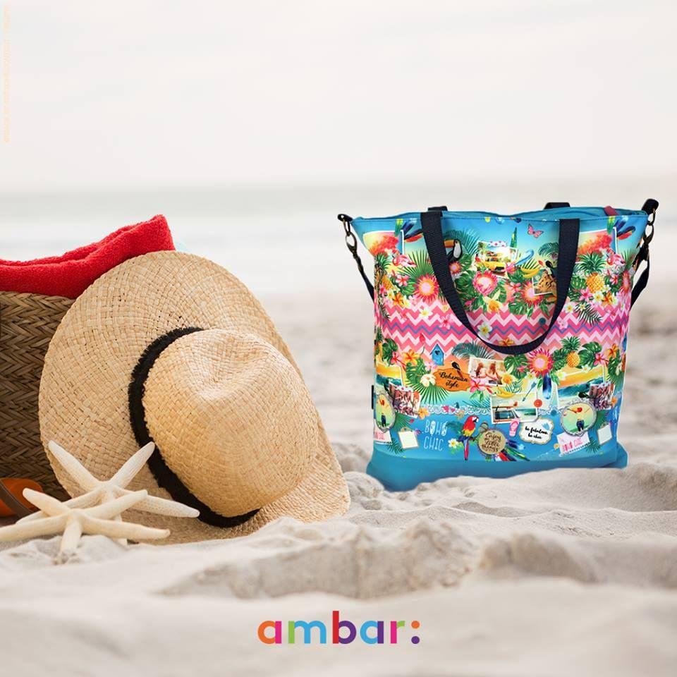 Toalha, protetor-solar, água… Tudo cabe na mala Boho Chic para um dia de praia em grande! ;)
