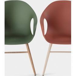 Photo of Kristalia Elephant armchair with wooden legs terracotta beech wood KristaliaKristalia