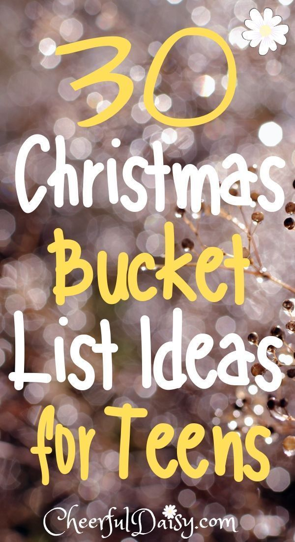 30 Fun Christmas Bucket List Ideas