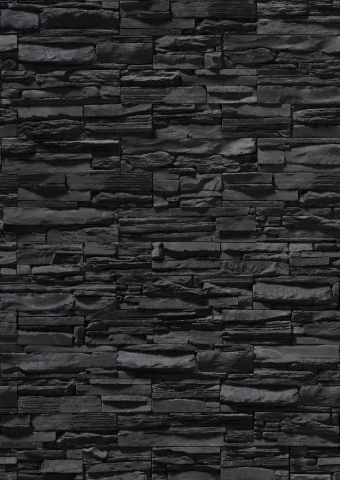 Black Stone Wall Muros piedra Pinterest Piedra