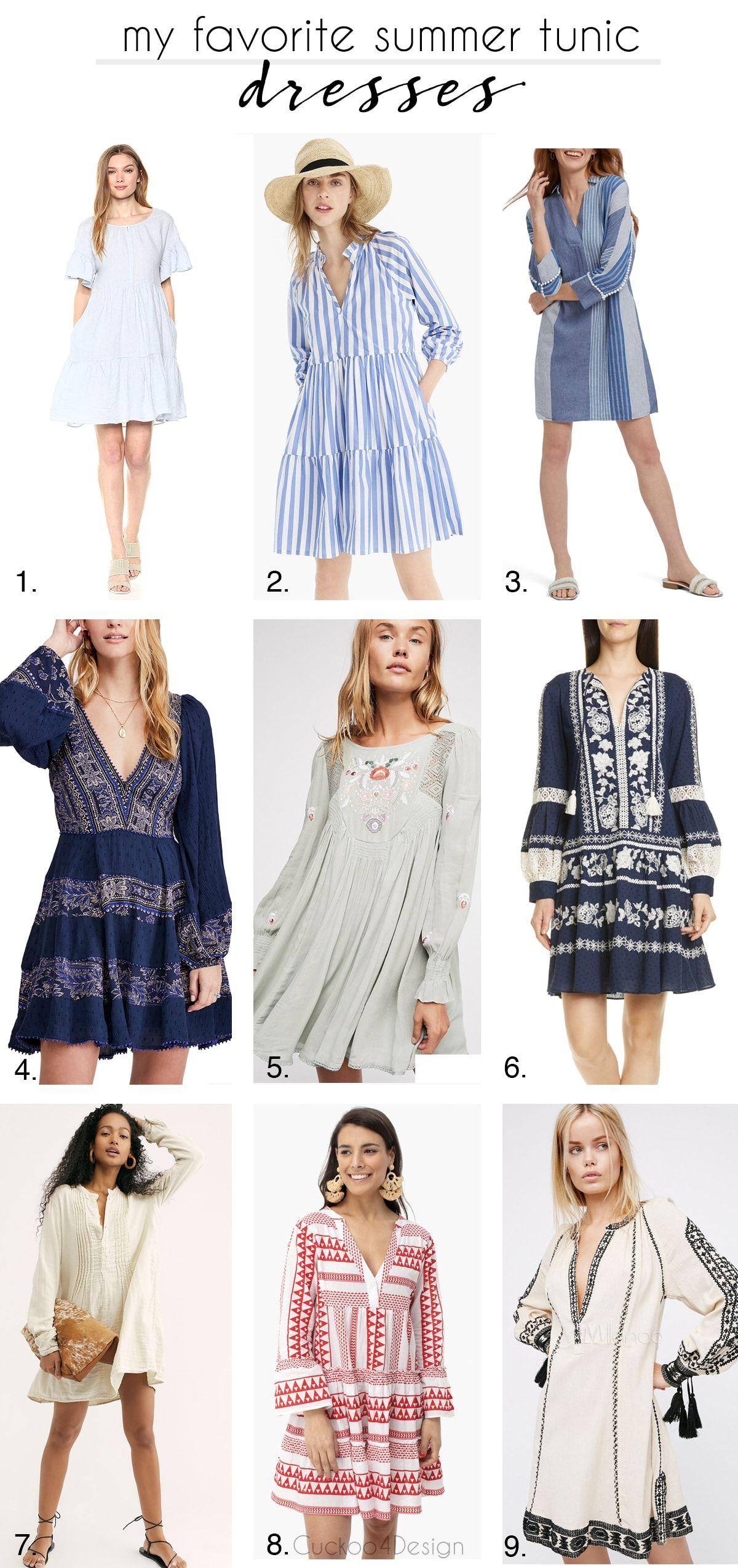 My Favorite Tunic Dresses Boho Summer Dresses Summer Tunics Linen Dress Pattern [ 2547 x 1200 Pixel ]