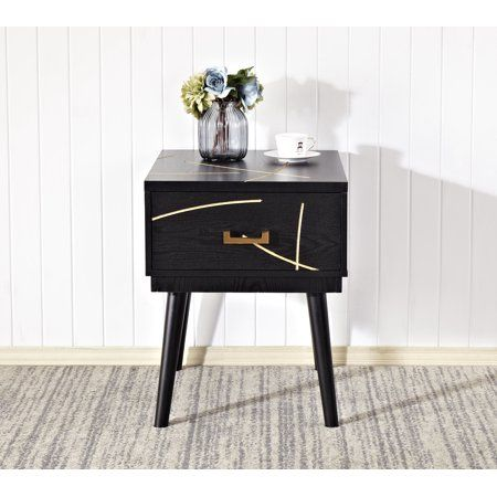 Home Source Natalie Mid Century Modern End Table Modern End