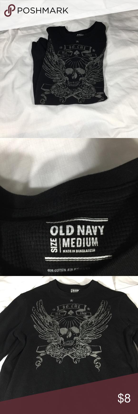 Black t shirt old navy - Old Navy Long Sleeve Gently Used Long Sleeve Warm Shirt Old Navy Shirts Tees Long