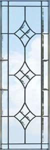 glass and stained glass vertical sidelight