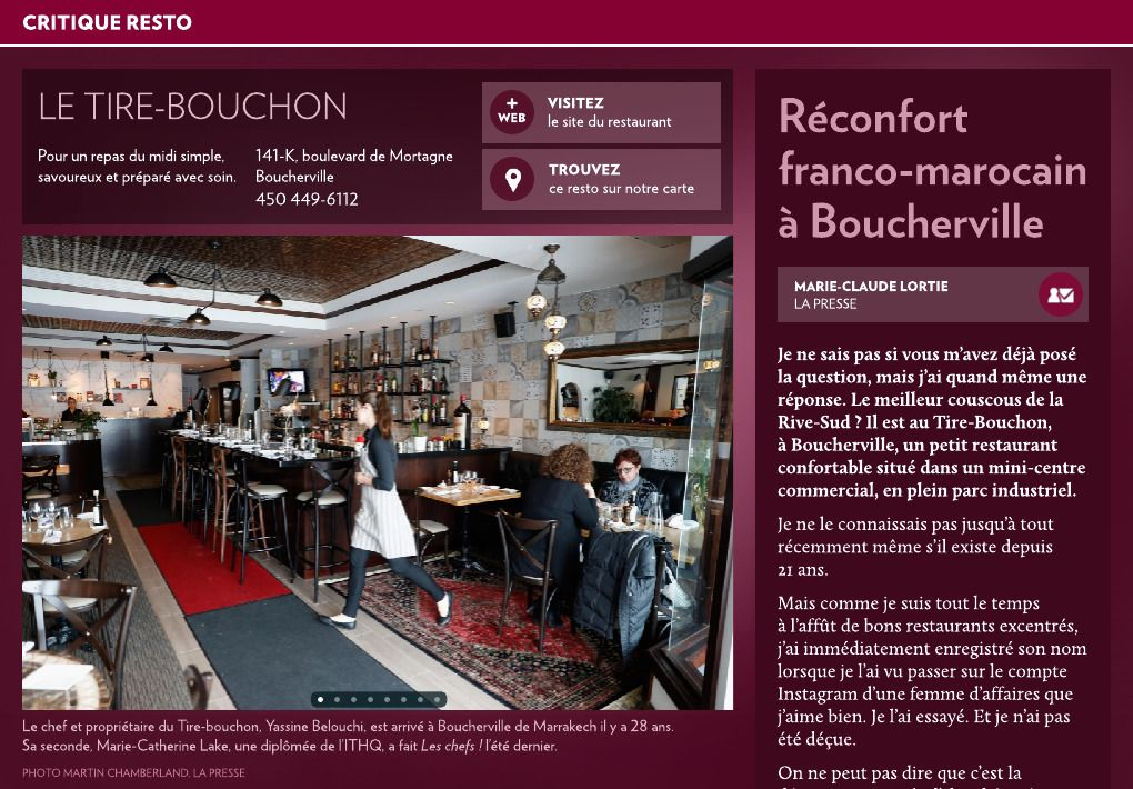 Reconfort Franco Marocain A Boucherville La Presse