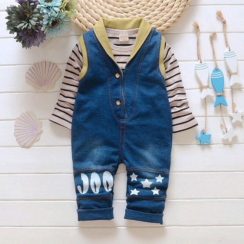 97129423e3e YTS Blue Cotton Striped Dungaree #YTS, #Blue, #Dungaree | Boy's Wear ...