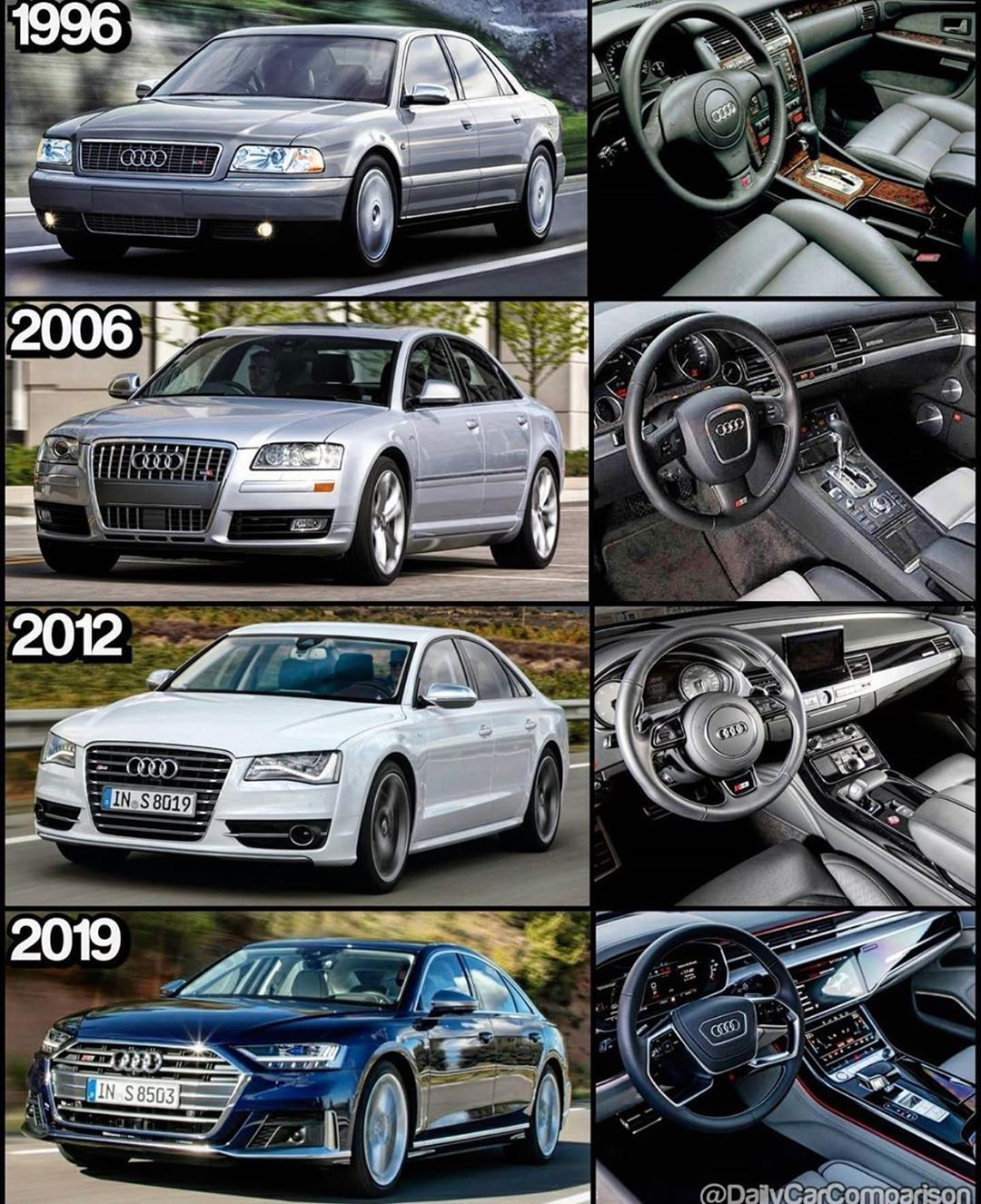 Only Audi On Instagram Audi S8 Evolution By Dailycarcomparison Partner All Of Europe Onlyaudi Audi Quattro Audia8l A8l Audi Audi A8 Volkswagen