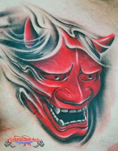 Hannya Mask Tattoo - http://99tattooideas.com/hannya-mask ...