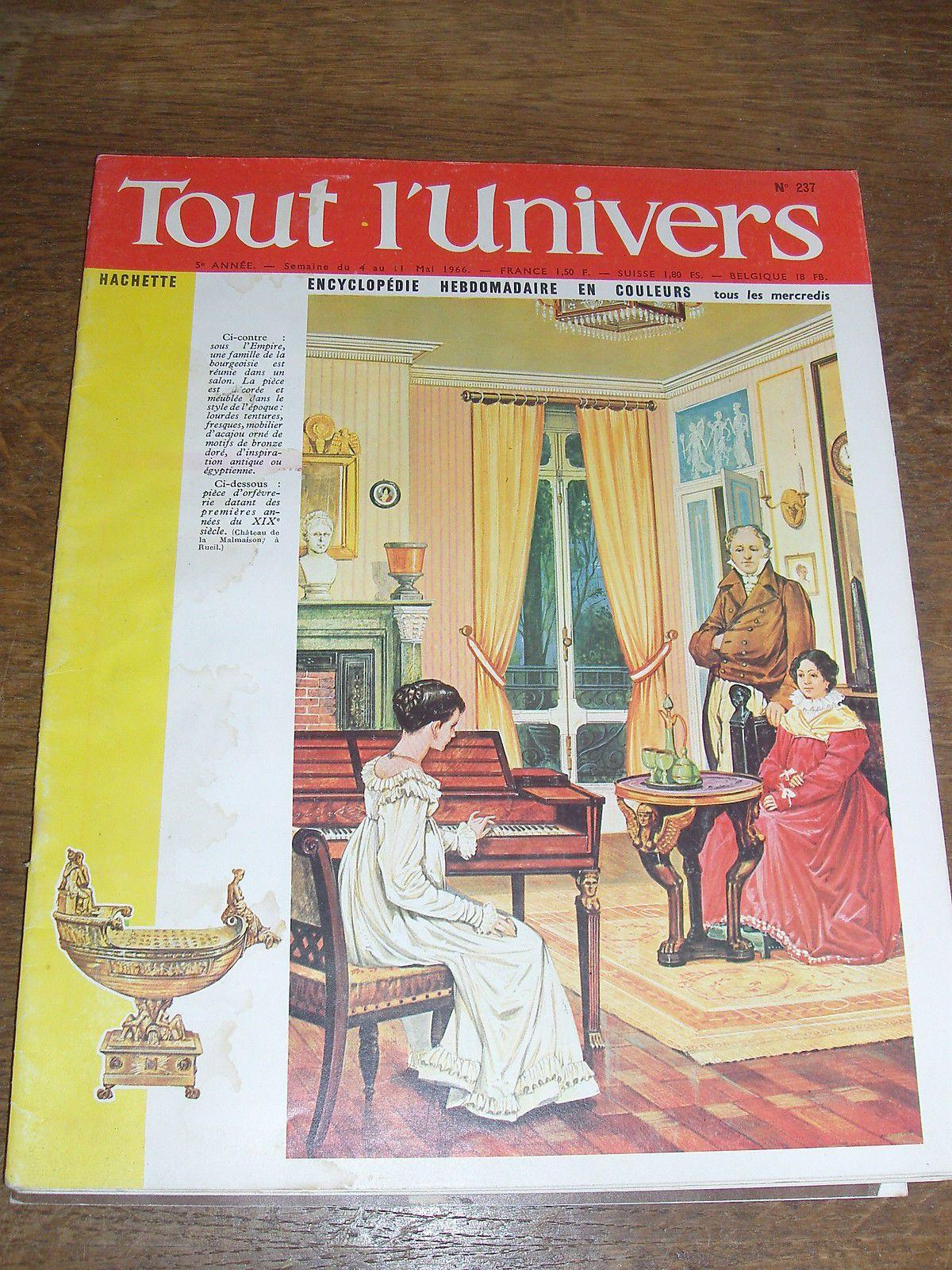 TOUT L'UNIVERS N°237 MAGASINE REVUE ENCYCLOPEDIE / HACHETTE in Livres, BD, revues, Revues, Histoire et politique | eBay
