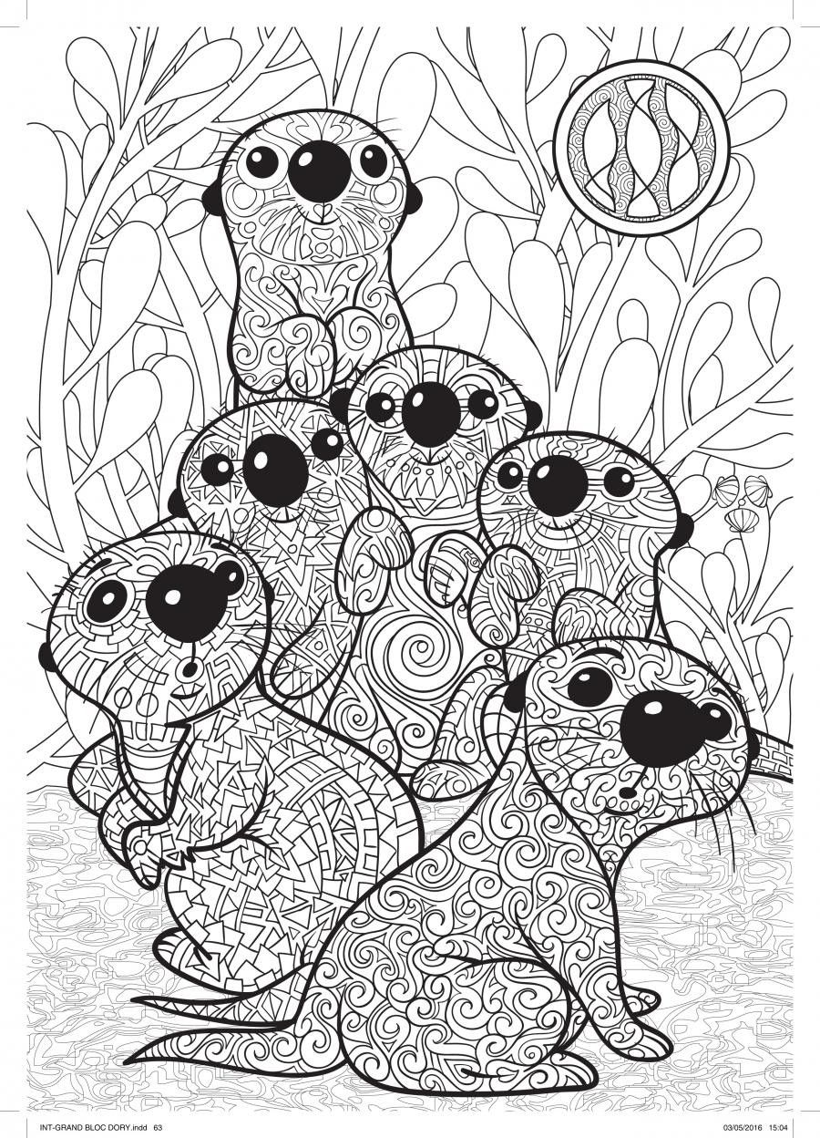 Disney coloring therapy - Disney Coloring Pages Colouring Pages Adult Coloring Coloring Books Finding Nemo Coloring Pages Finding Dory Otters Disney Finding Dory