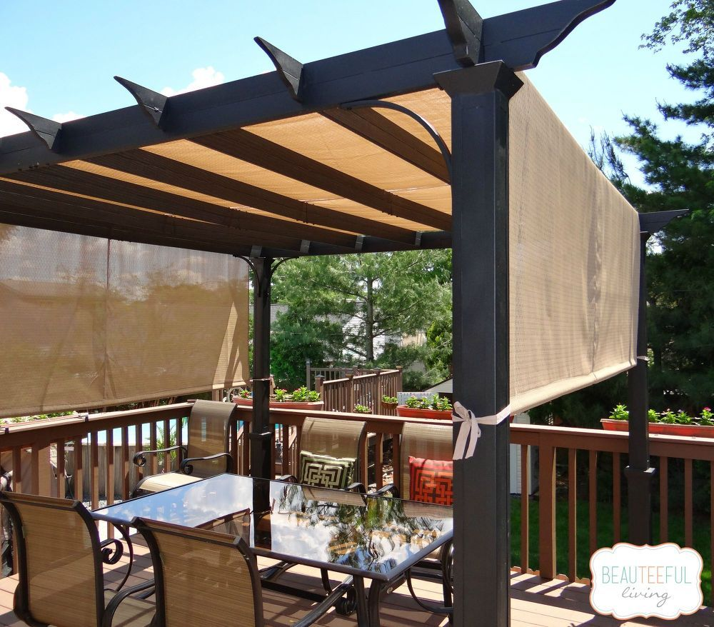 Hometalk | Best Pergola for Sun Relief! - Great shade idea! - To Maximize Shade, This Couple Got Rid Of Their Deck Umbrella In