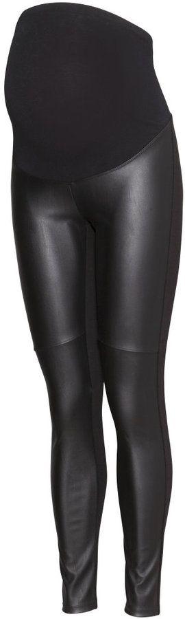 38756e274c180 H&M - MAMA Leggings - Black/leather imitation - Ladies | Haute ...