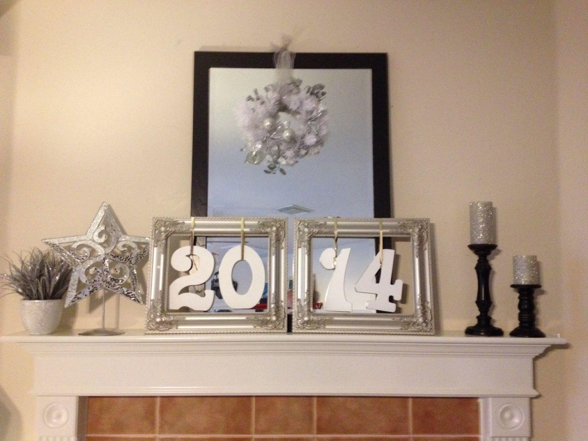 Fireplace Mantle Punch Art January