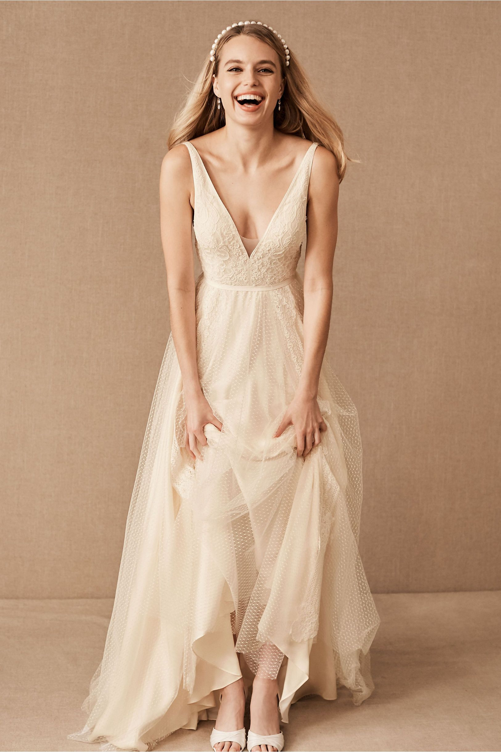 Nara Gown From Bhldn Bhldn Wedding Dress A Line Wedding Dress Wedding Dresses Size 14