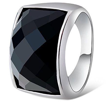 Anillo de acero inoxidable anillo de mujer 12mm Rose plata blanco Modern 2 series circonita