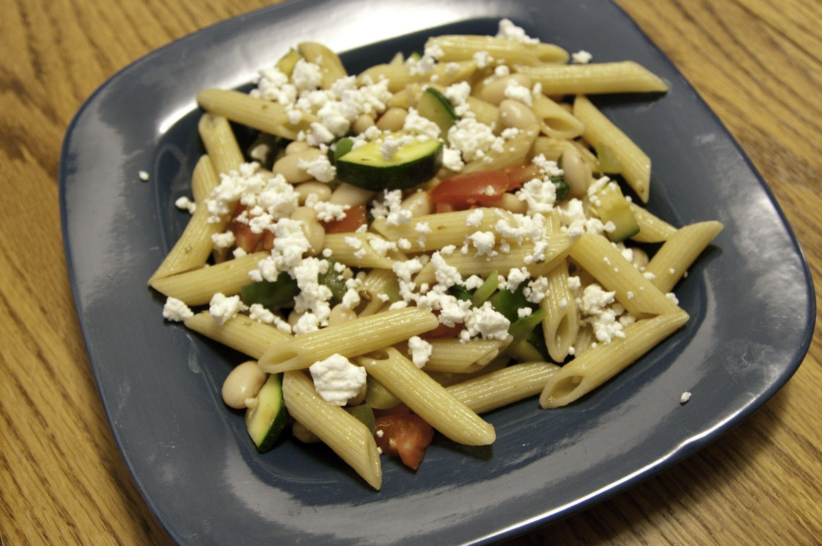 A Blog About Food: Mediterranean Vegetable, White Bean and Feta Penne