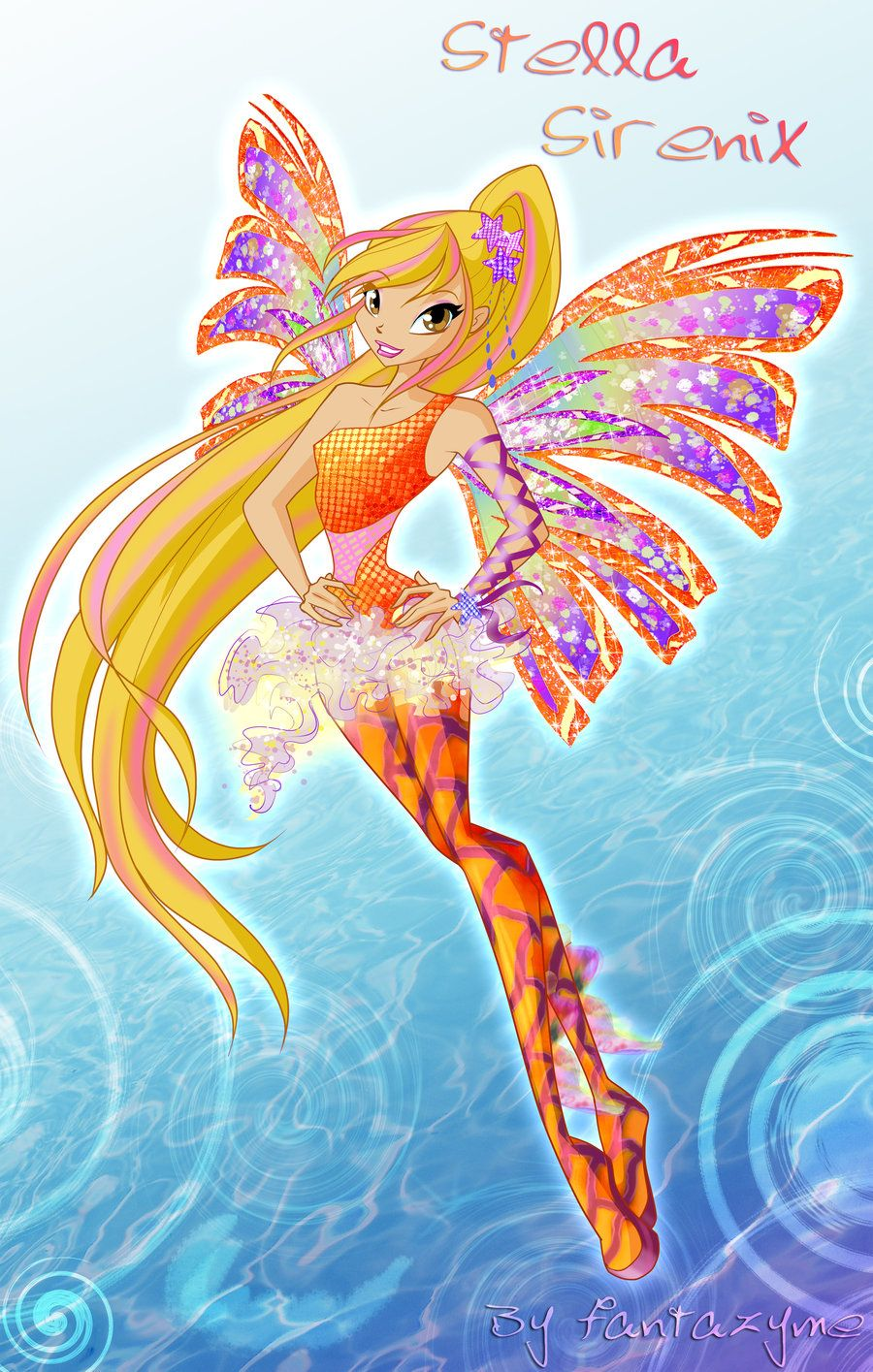 Winx club Stella Sirenix by fantazyme.deviantart.com on @deviantART