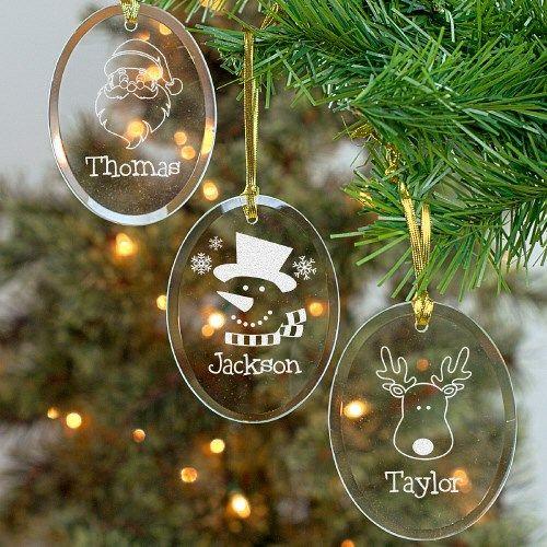 Engraved Glass Christmas Ornament Christmas Ornaments Glass Christmas Ornaments Christmas Calligraphy
