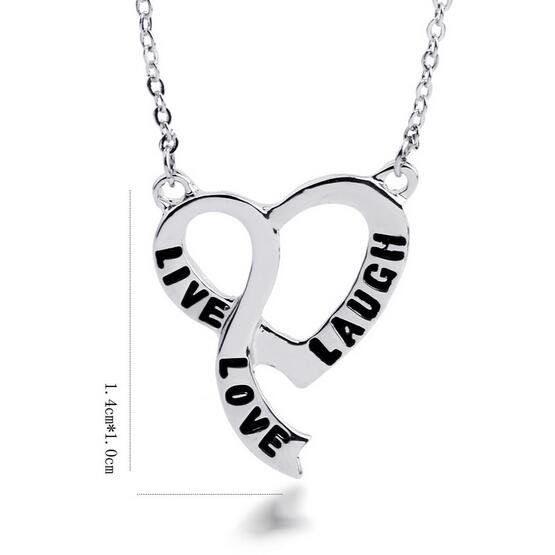 K K Sweet Fashion  Love Letters Pendant Necklaces Variety