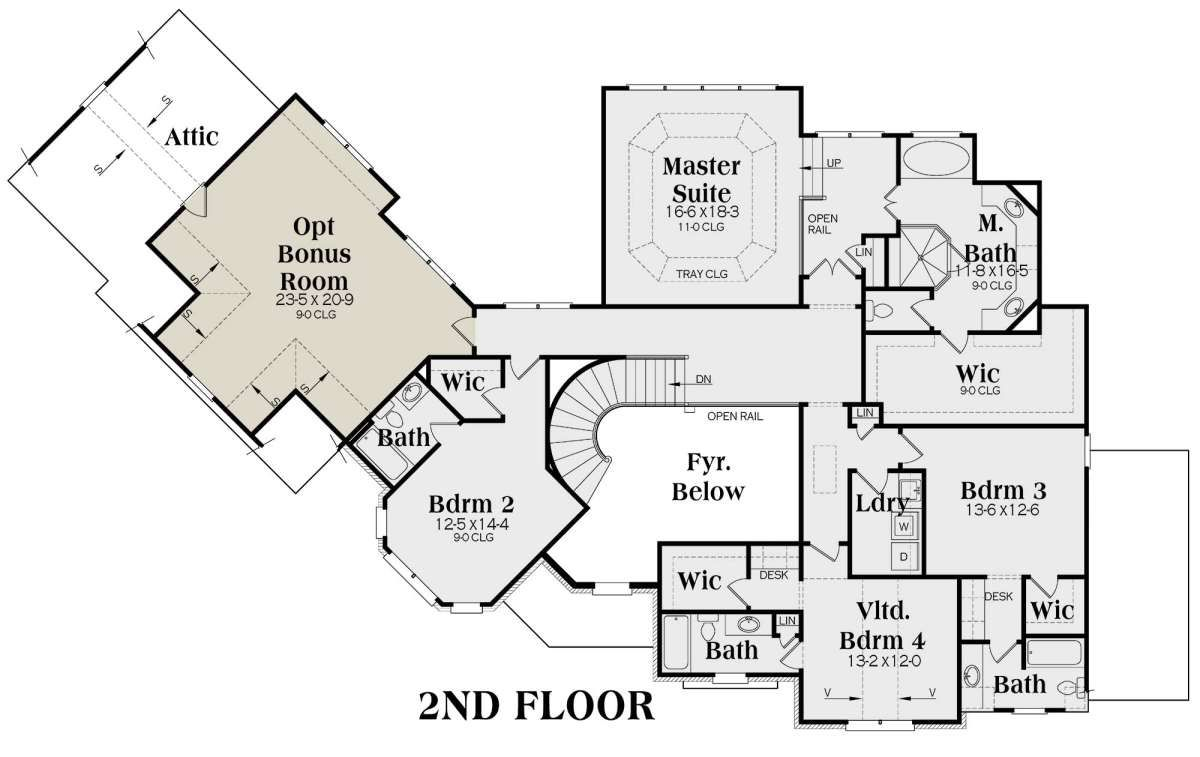House Plan 009 00284 European Plan 4 538 Square Feet 5 Bedrooms 6 5 Bathrooms European Plan House Plans Mansion Floor Plan