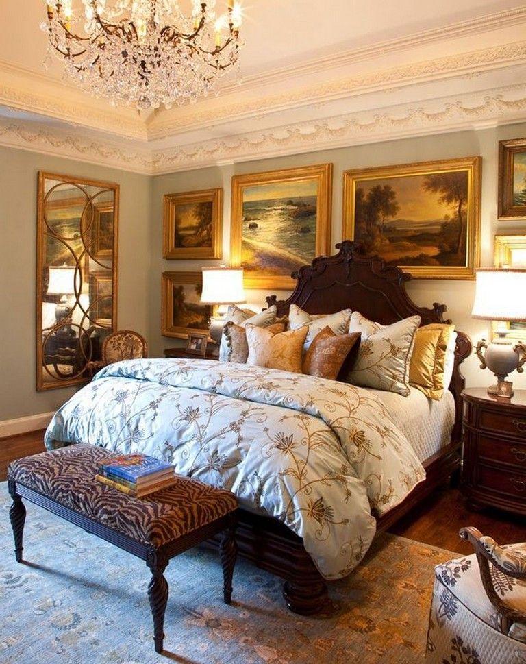 28 Handsome Elegant And Vintage Traditional Bedroom Design Ideas In 2020 Traditional Bedroom Traditional Bedroom Design Country Bedroom Design