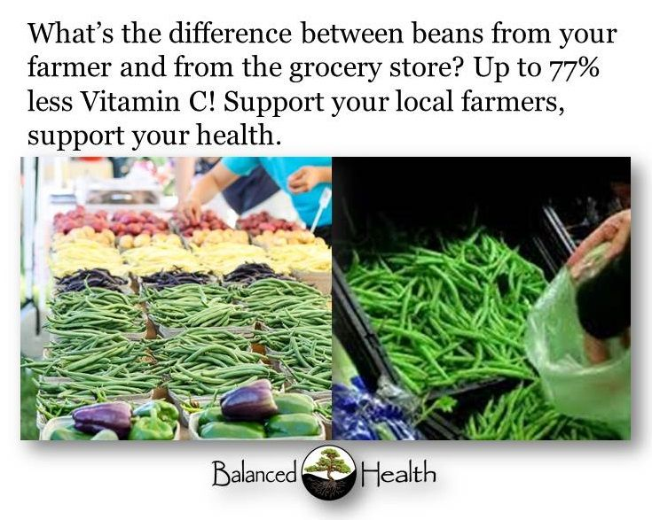 Get more vitamin C by supporting local farmers.