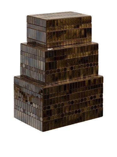 Chai Mosaic Boxes Set Of 3