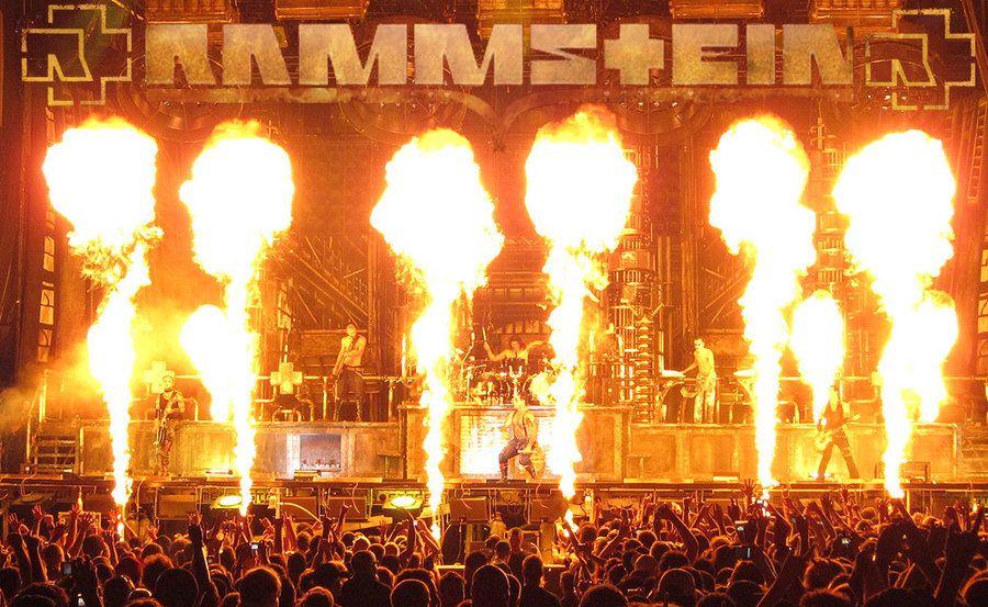 Image Gallery Rammstein Pyrotechnics