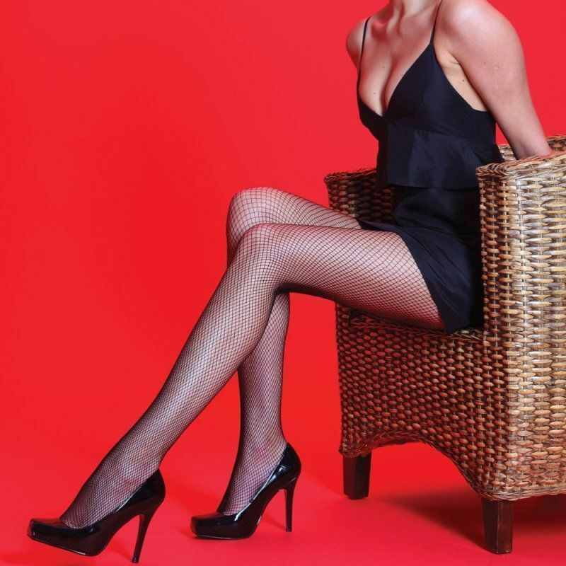 Women Ladies Fishnet Net Pattern Burlesque Hosiery Pantyhose Tight Black Size L