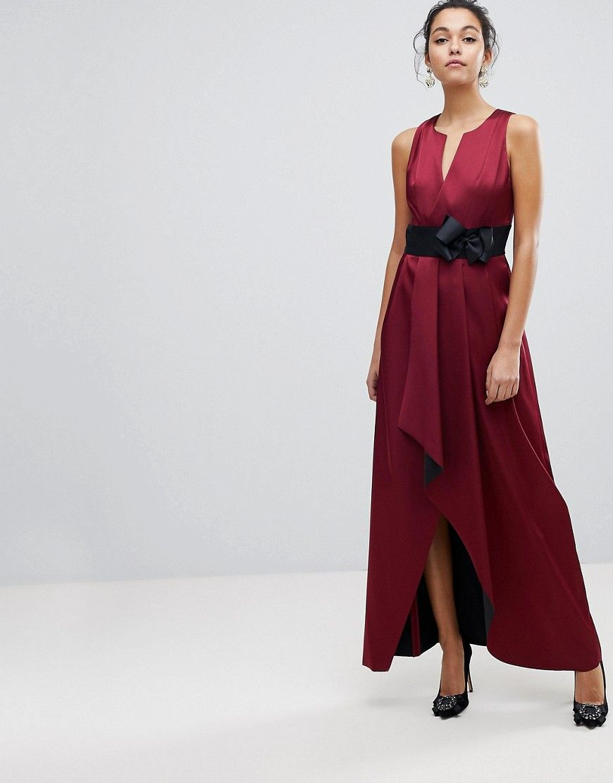 ccf9911cd9 TED BAKER WRAP MAXI DRESS WITH BOW - RED.  tedbaker  cloth