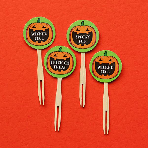 Diy Halloween Circle Cupcake Toppers Free Printable Download Cupcake Toppers Free Halloween Cupcake Toppers Halloween Diy