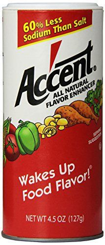 B & G Foods Inc Accent Monosodium Glutamate, 4.5 oz - http://spicegrinder.biz/b-g-foods-inc-accent-monosodium-glutamate-4-5-oz/