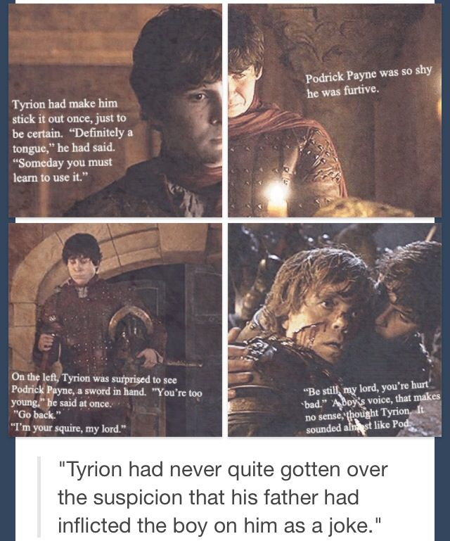 Podrick Payne and Tyrion Lannister | Game of Thrones ...