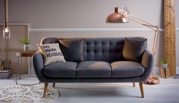lovely copper blue living room   Image result for copper living room   Copper living room ...