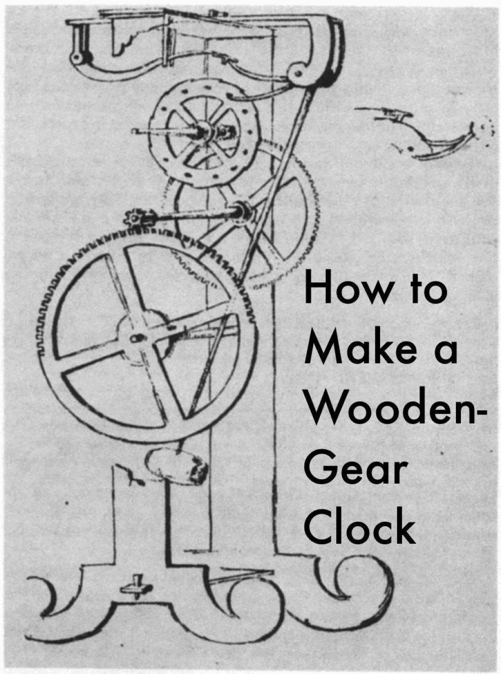 The basic parts of a wooden gear clock, how they work, and
