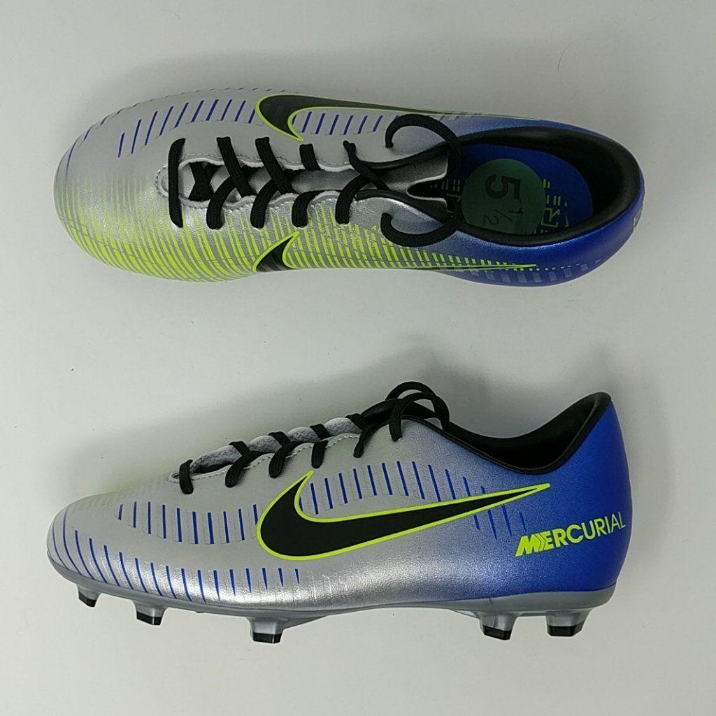 Nike Jr Mercurial Victory Vi Neymar Fg Soccer 921488 407 Youth Size 5 Lonesole Try On