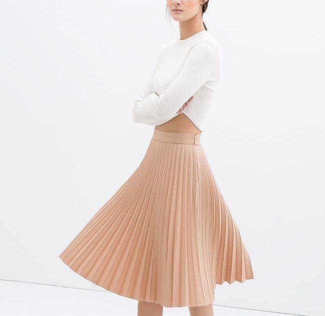 08ae08df5 Falda plisada de Zara | Skirts Sophisticated | Faldas plisadas ...