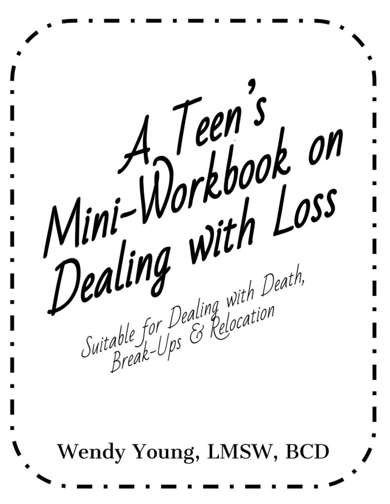 Workbooks tf cbt workbook for children : Teen Mini-Workbook on Loss   Teen, Minis and School
