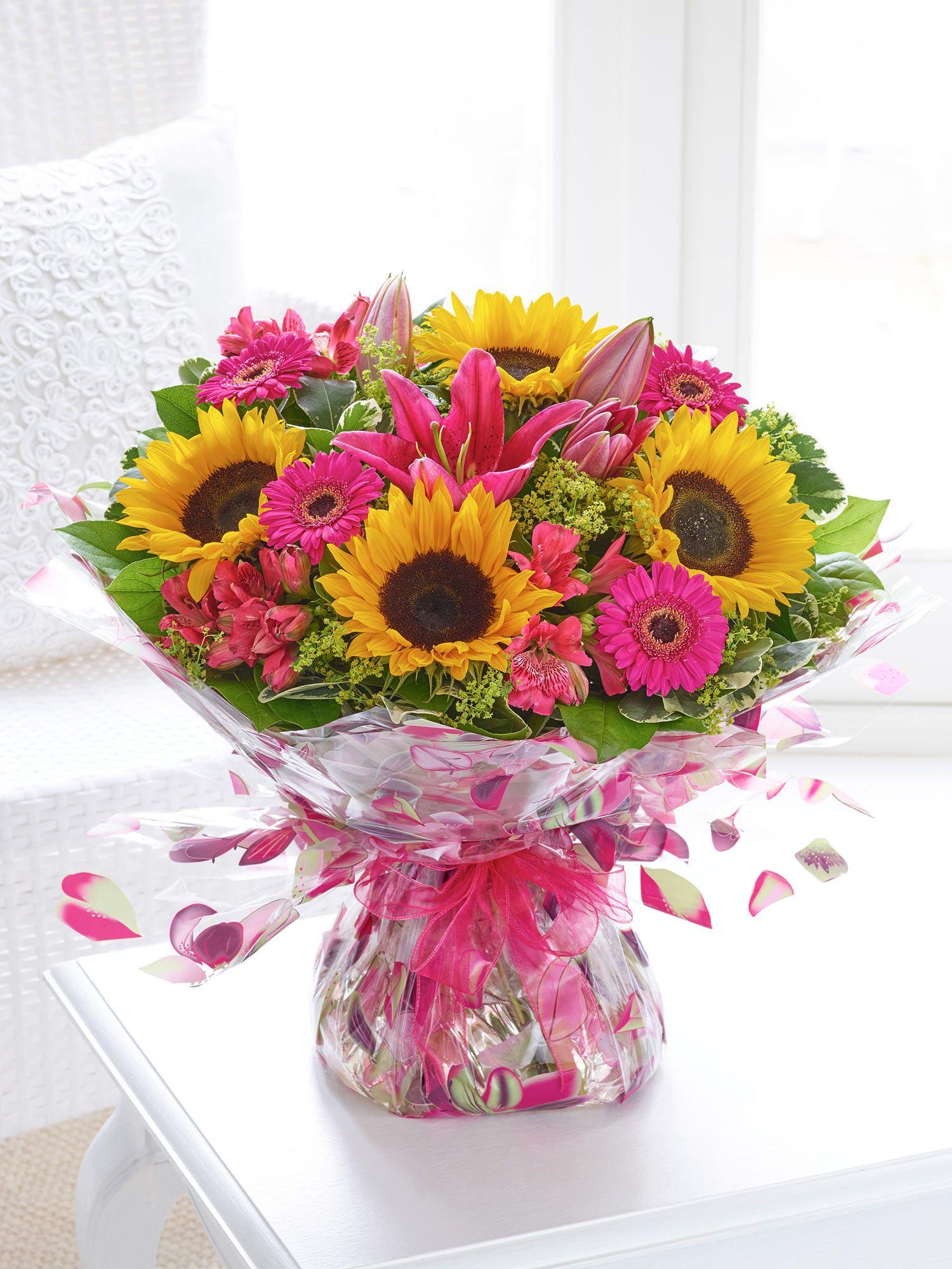 Sunflower Celebration Handtied Flowers delivered, Same