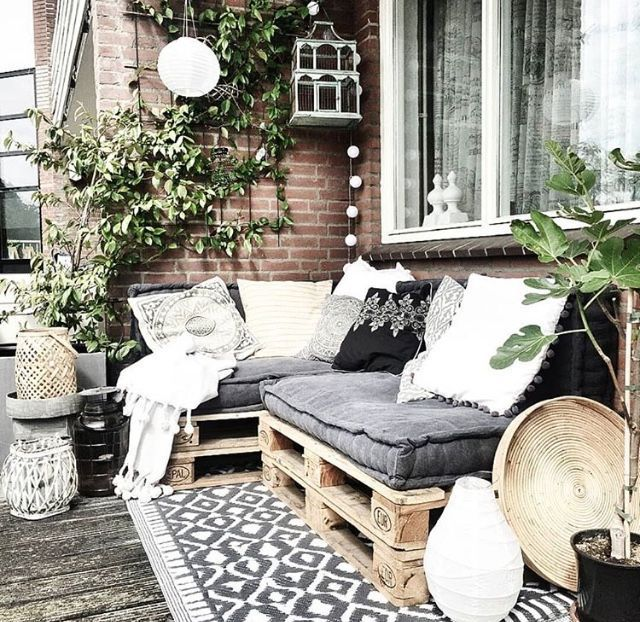 Terrassenpalettenmöbel - Balkon Garten 100
