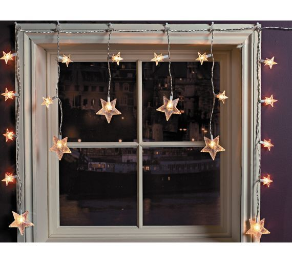 Buy Star Window Christmas Decoration Lights - Clear at Argos.co.uk ...