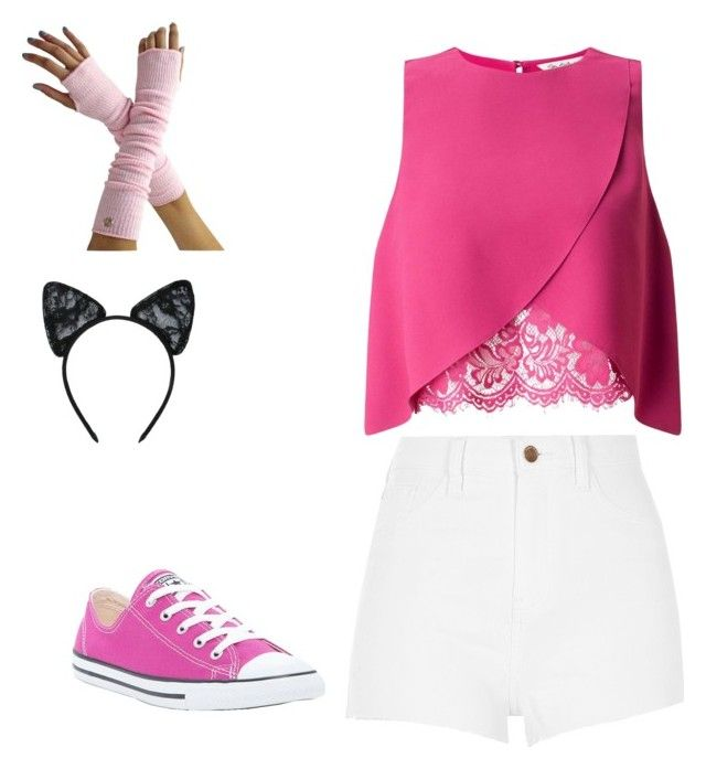 """Kawaii~Chan"" by dancequeen247 ❤ liked on Polyvore featuring River Island, Miss Selfridge, Converse and Maison Close"