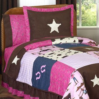 Shop for Sweet Jojo Designs Girls 'Cowgirl' 3-piece Full/Queen Comforter Set. Get free delivery at Overstock.com - Your Online Kids'