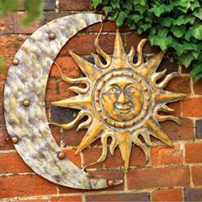 Gardman Aztec Sun And Moon Wall Art Aged Gold 26 W X 24 H At