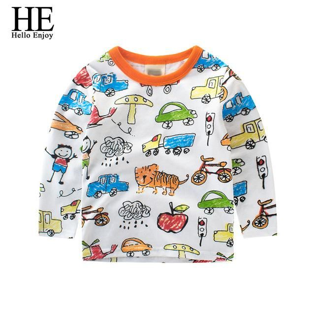 bc07a8446 Boys Autumn Winter T-Shirt Children T-Shirt Girl Clothes Warm Long ...