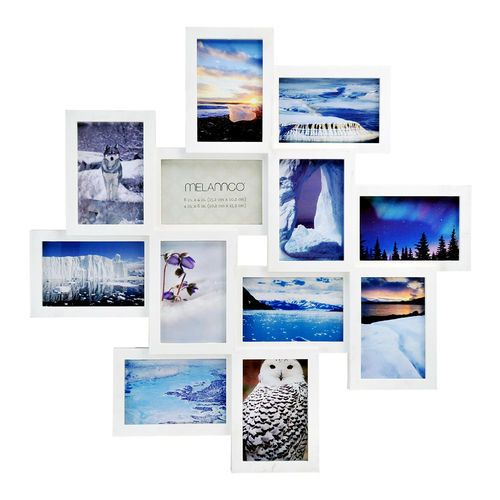 His Melannco 12 Opening White Collage Frame Is Quite A Creative Manner To Display All Your Favorite Phot Collage Frames Framed Photo Collage Photo Wall Display