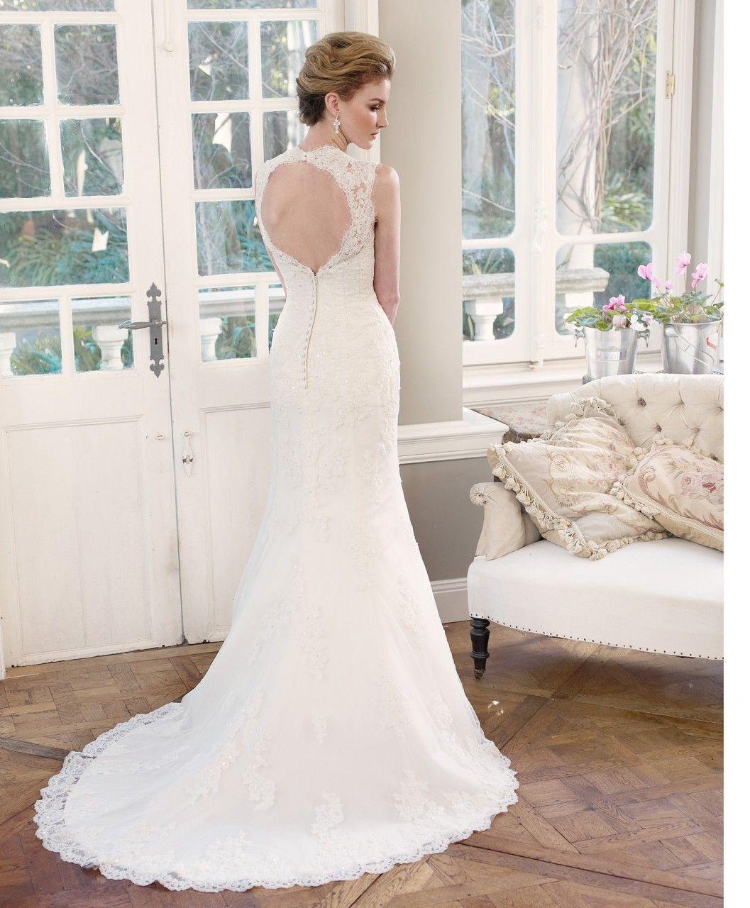 Lace keyhole back wedding dress  Luv Bridal  MZ Lace Wedding Dress with Key hole back